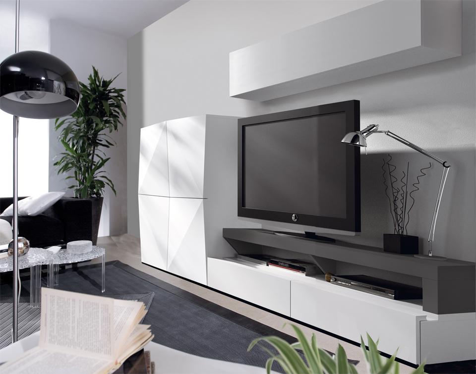 Salon blanco y gris decorar tu casa es - Salones blanco y gris ...