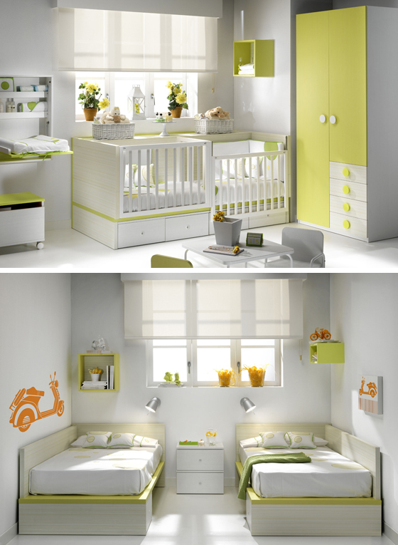 Imagenes de cunas para gemelos imagui - Habitaciones para gemelos ...