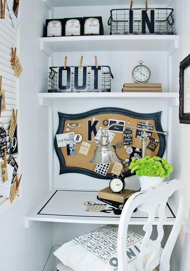 Tendencias 2013 un mini despacho integrado en otra estancia kenay home - Small space offices pict ...