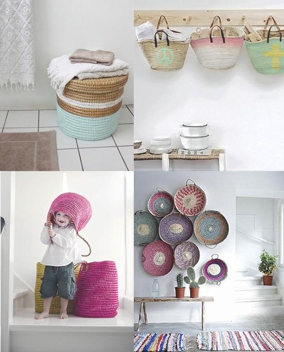 cestas y capazos una decoracin diferente