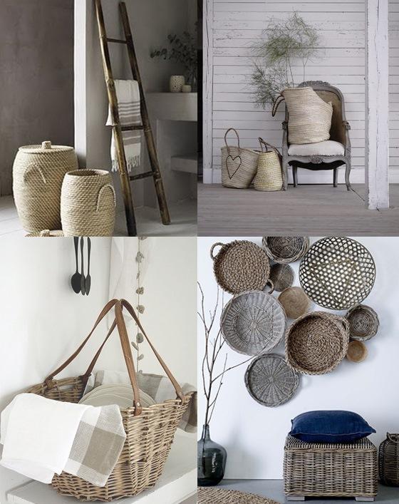 Cestas y capazos una decoraci n diferente kenay home - Como adornar una cesta de mimbre ...