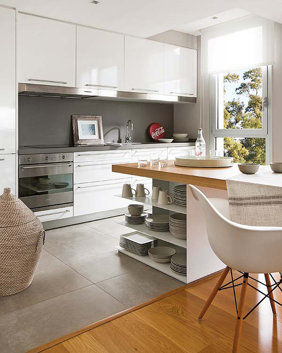 Un tico para inspirarte y so ar kenay home for Unir cocina y salon