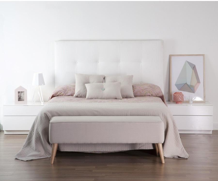 Cabeceros tapizados y de madera kenay home for Cabeceros de cama tapizados