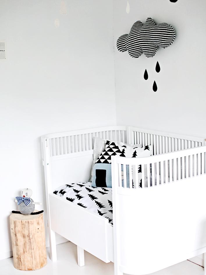 Habitaciones infantiles en blanco y negro kenay home - Habitaciones infantiles en blanco ...