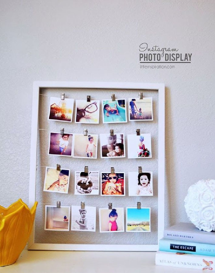 Decora tu pared con un collage de fotos kenay home for Como pegar papel mural en madera