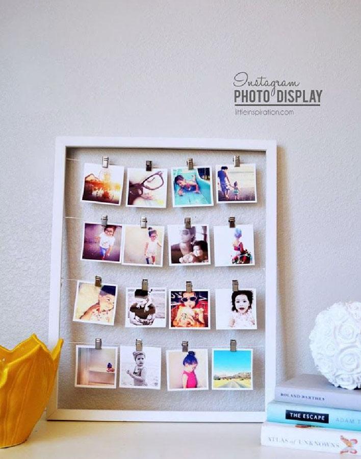 Decora tu pared con un collage de fotos kenay home - Accroche photo pince ...
