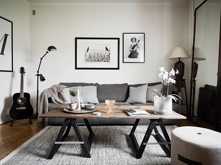 Decoraciu00f3n en gris y tonos naturales : Kenay Home