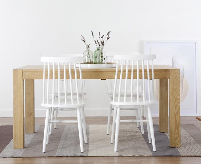 Silla accis blanca kenay home estilo n rdico kenay home for Sillas de cocina cromadas