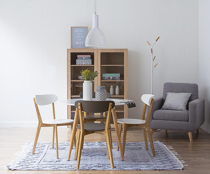 Mesa para un comedor peque o kenay home Mesas y sillas para comedor pequeno