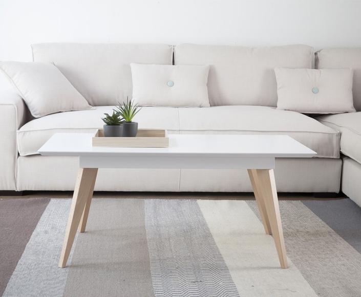 7 mesas de centro y auxiliares modernas kenay home for Mesa centro estilo nordico