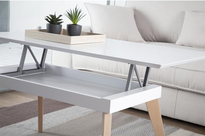 7 mesas de centro y auxiliares modernas kenay home for Mesa de centro blanca