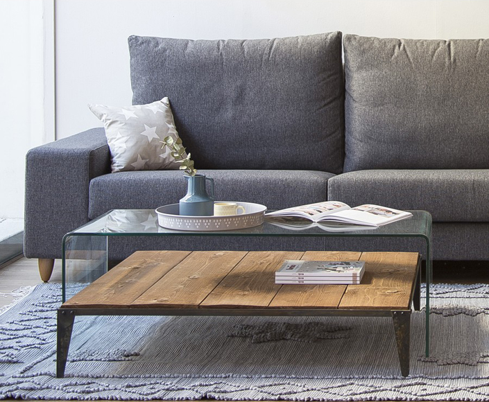7 mesas de centro y auxiliares modernas kenay home for Mesas de centro de cristal modernas