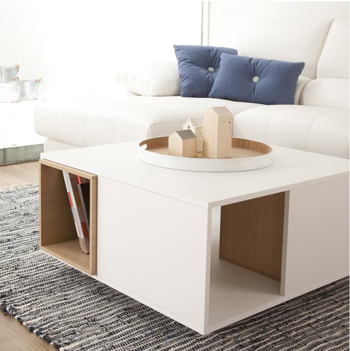 mesas de centro y auxiliares mesa auxiliar metal y madera