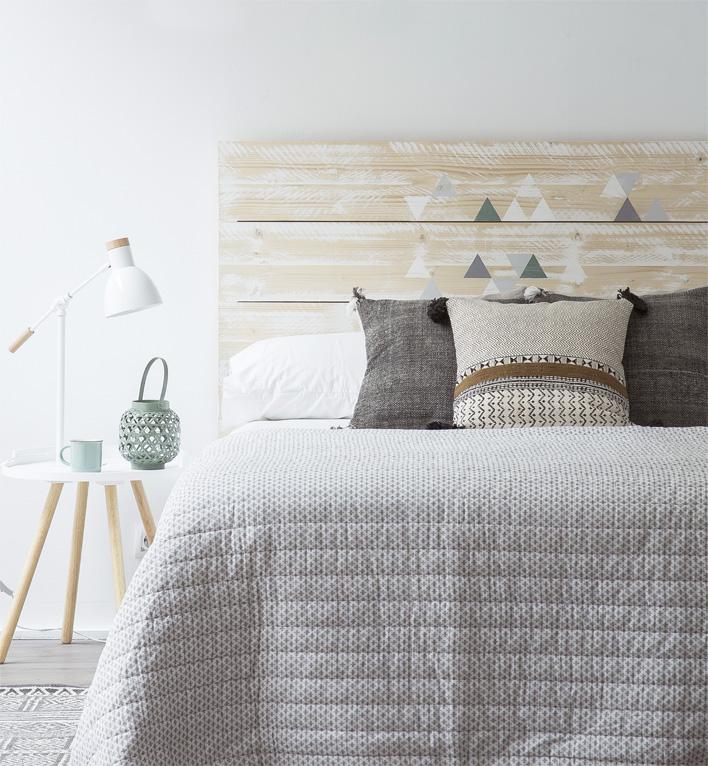 Geometr a handmade dormitorio con encanto kenay home - Cabeceros con estilo ...