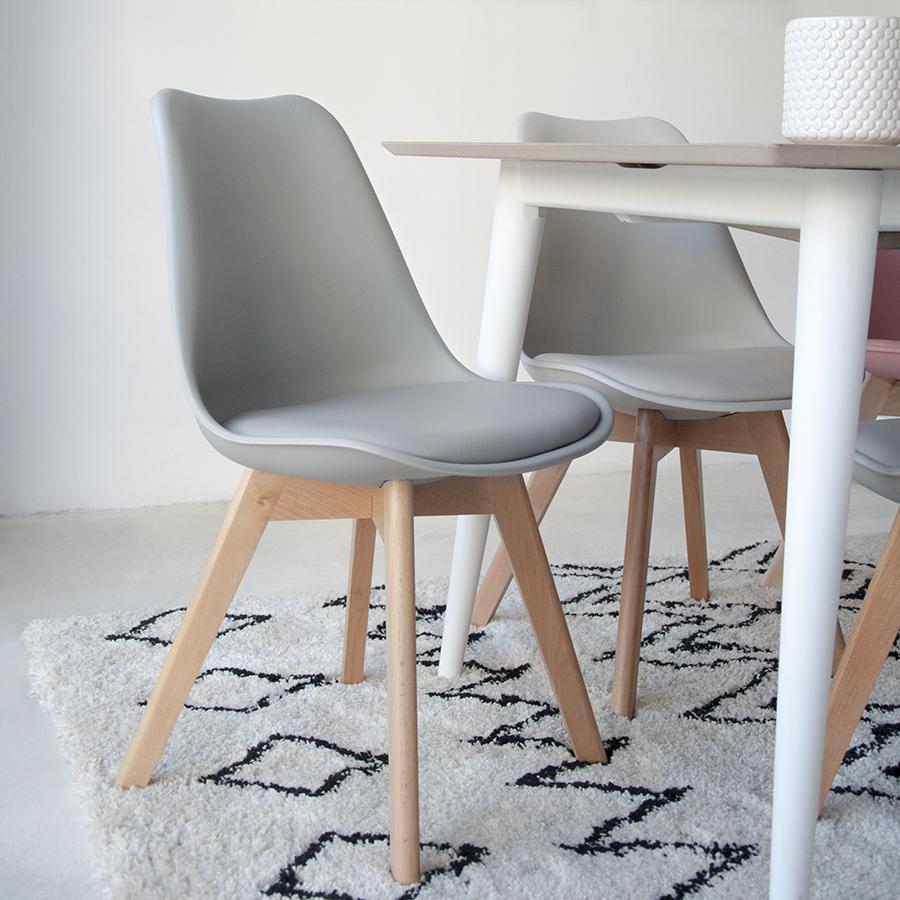 Edici n especial silla scandinavian kenay home for Sillas grises para comedor