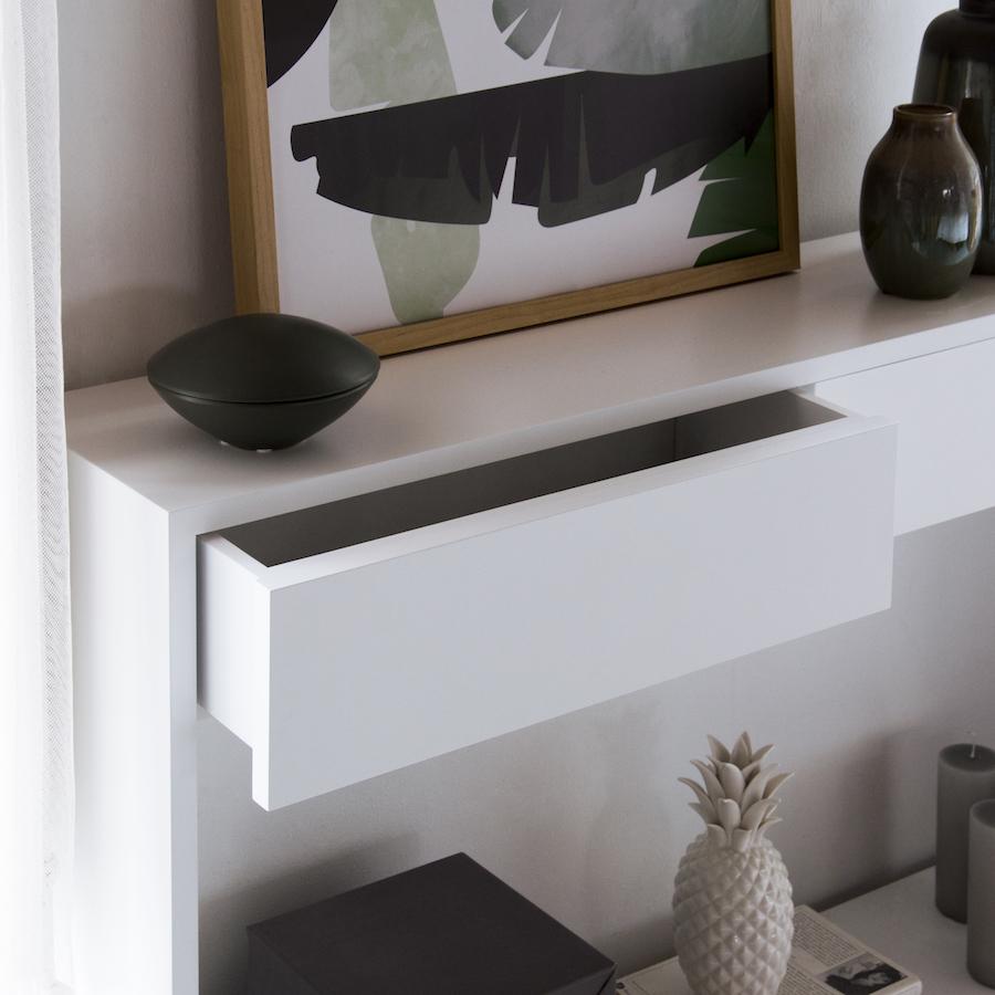 KKN-0220BL Lure consola 2 cajones blanco 03