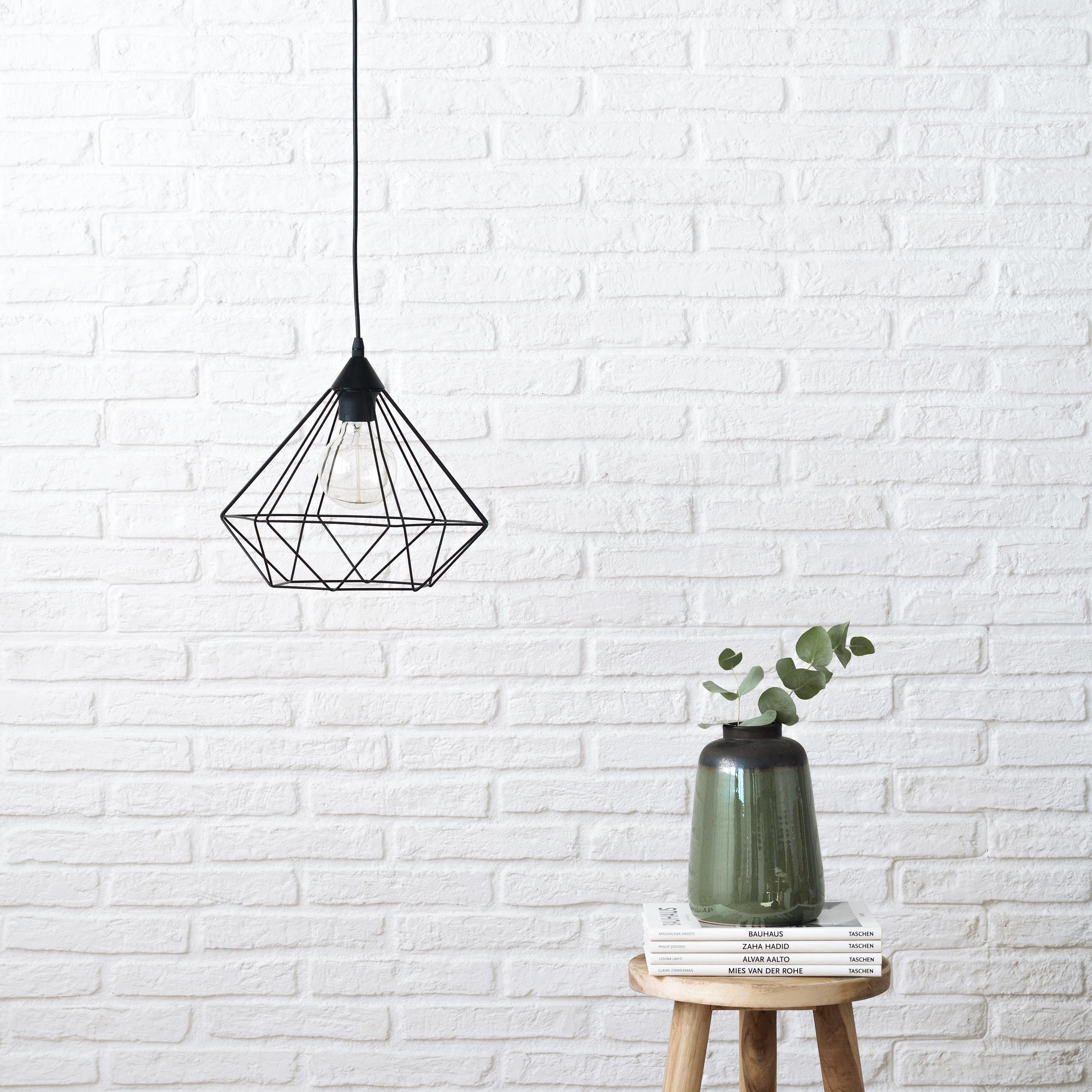 KEG-1001NE Diamond lámpara de techo negra 01