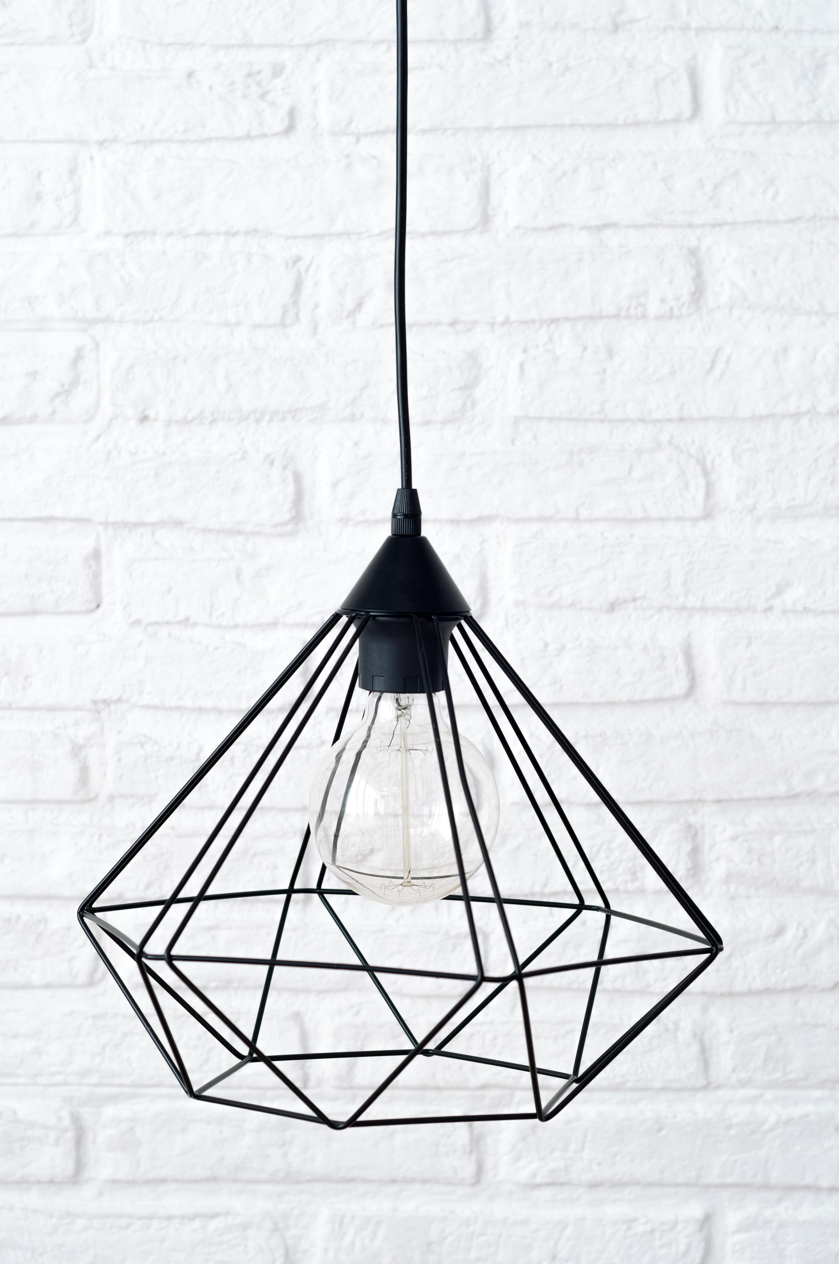 KEG-1001NE Diamond lámpara de techo negra 02