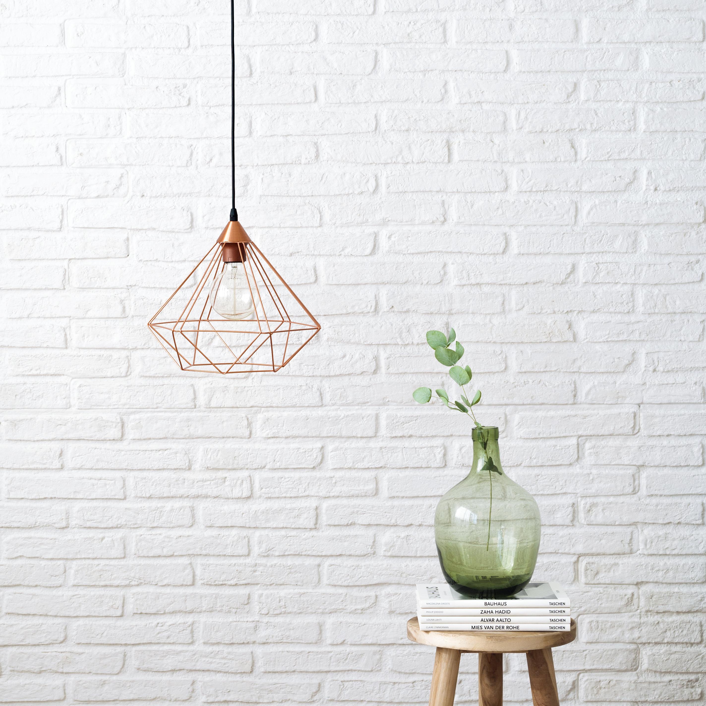 KEG-1011CO Diamond lámpara de techo cobre 01