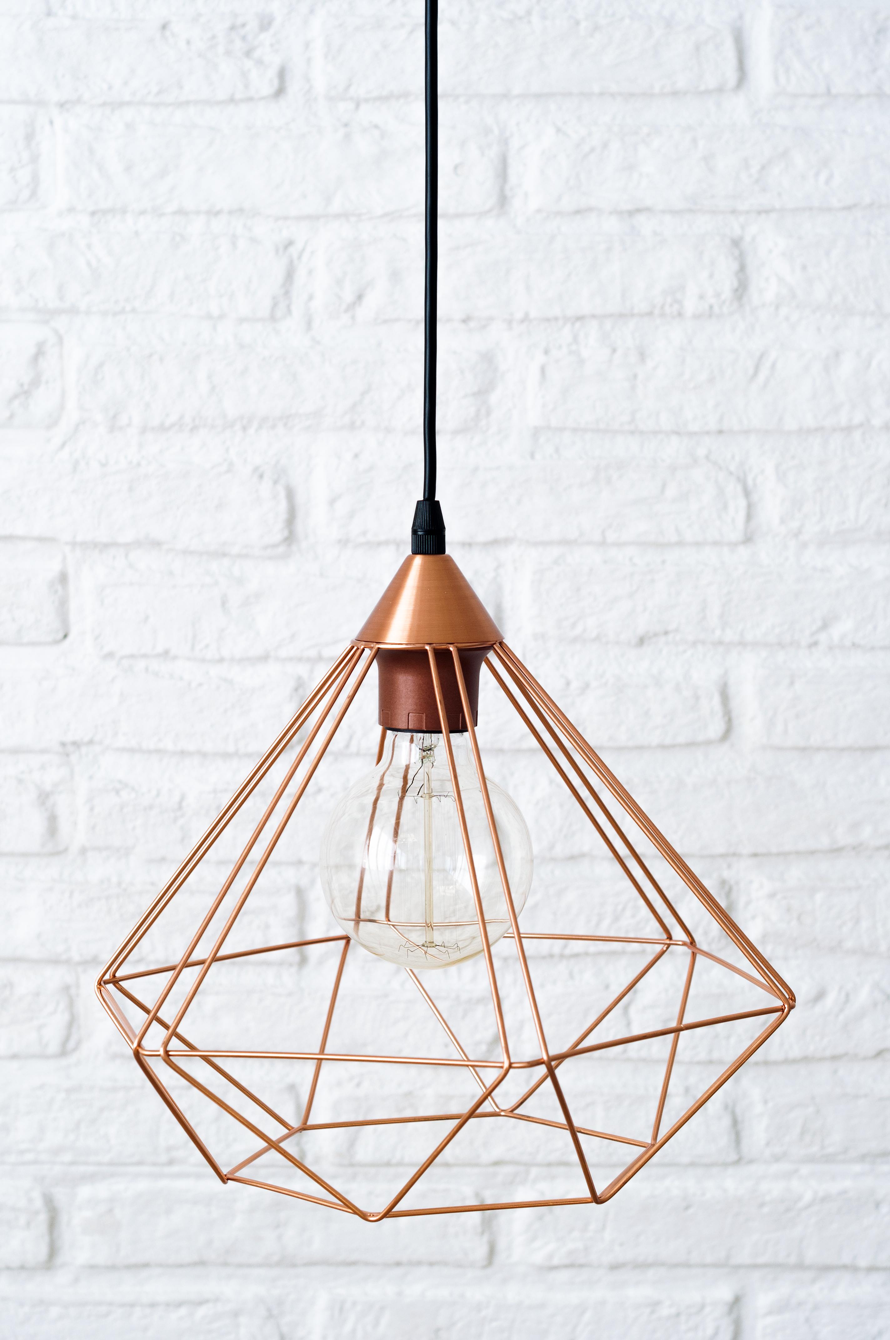 KEG-1011CO Diamond lámpara de techo cobre 02