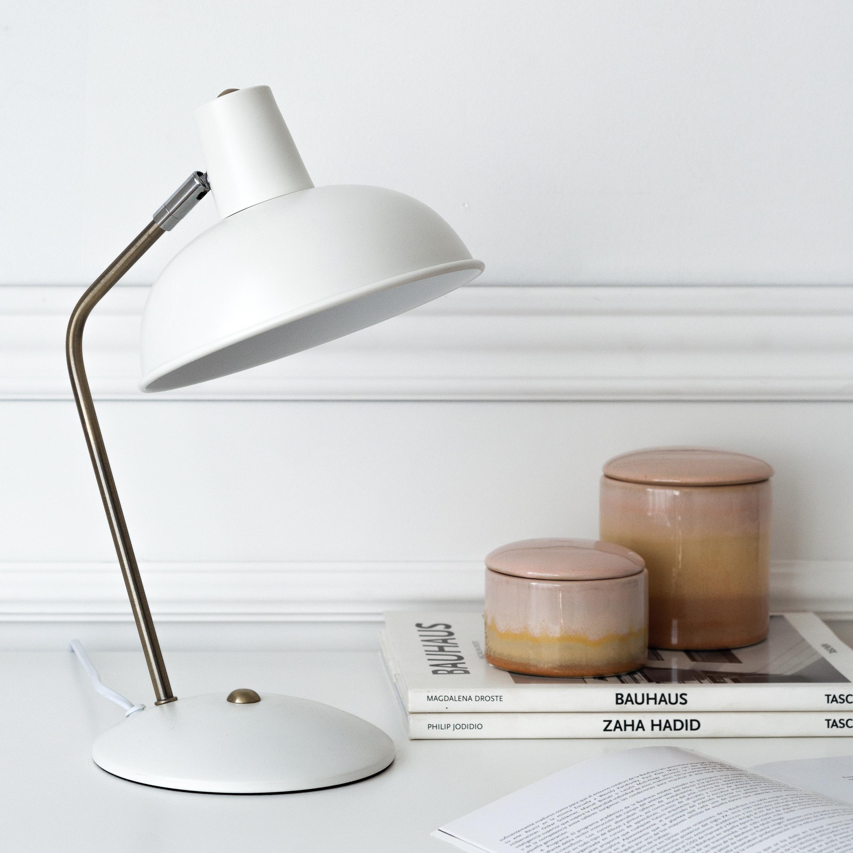 KP-1255BL Retro lámpara de mesa blanca 02