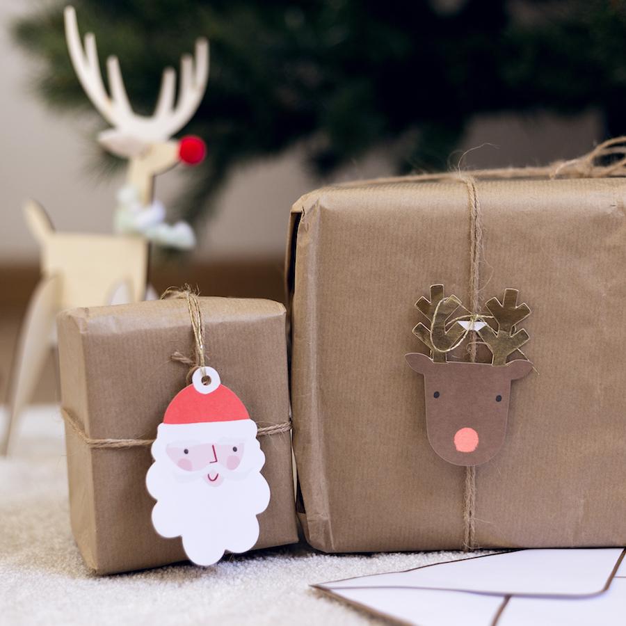 KRI-0023 Santa y Rudolf etiqueta