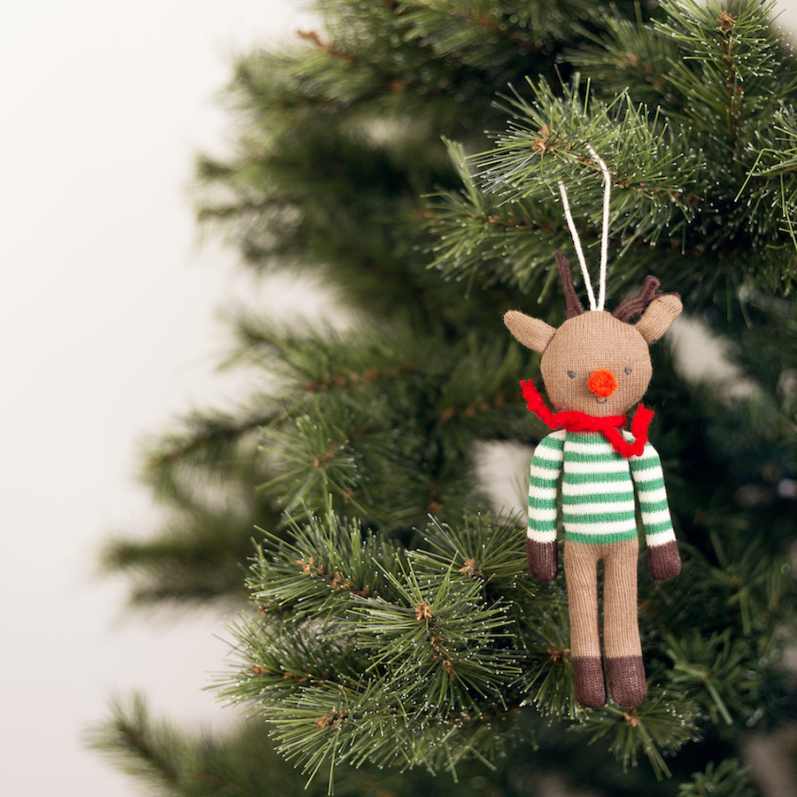 KRI-0013 Knit reno adorno Navidad 01